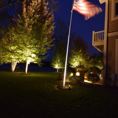 kenosha exterior lighting, outdoor lighting libertyville, lake bluff landscape lighting