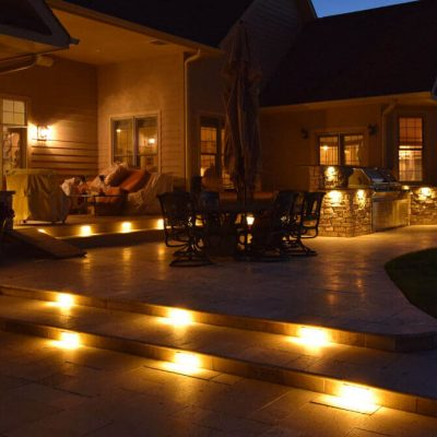 kenosha outdoor lighting, exterior lighting libertyville, lake bluff landscape lighting