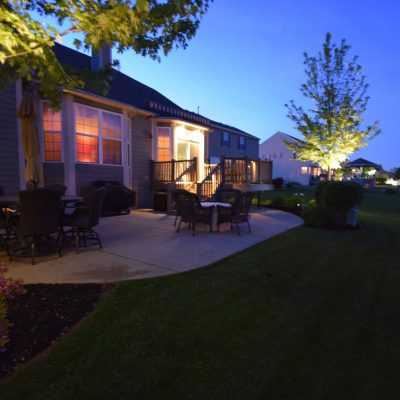 kenosha landscape lighting, racine outdoor lighting, exterior lighting libertyville