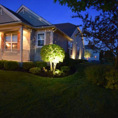 kenosha lights for landscaping, libertyville outdoor light installation, lake bluff exterior lighting solution