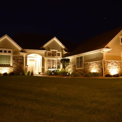 kenosha landscape lighting, outdoor lighting libertyville, lake bluff landscaping lights