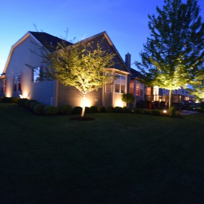 kenosha landscape lighting, outdoor light installation libertyville, lake bluff landscape lighting