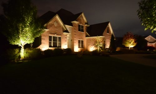 pleasant prairie landscape lighting, kenosha landscape lighting, evanston landscape lighting