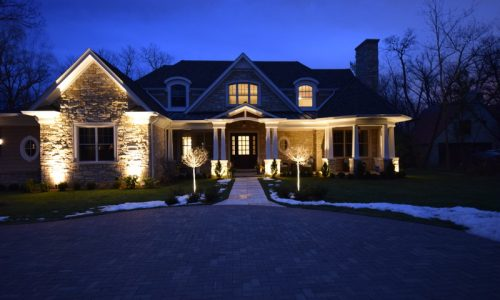 landscape lighting lake villa, lake forest landscape lighting, waukegan landscape lighting