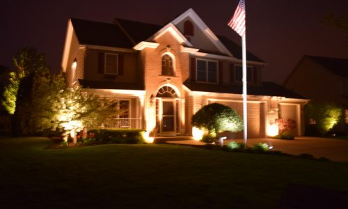 flag pole lights, spotlight for flag, outdoor lighting lindenhurst, outdoor lighting lake villa