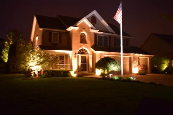 flag pole lights, spotlight for flag, outdoor lighting lindenhurst, outdoor lighting lake villa