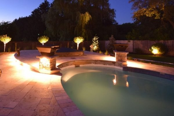 kenosha outdoor light installation, racine landscape lighting, libertyville exterior lighting installation
