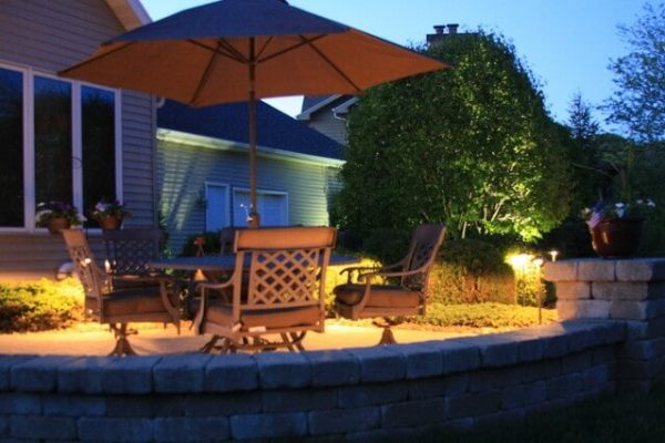 kenosha patio lighting, patio led light installation libertyville, landscape lighting lake bluff