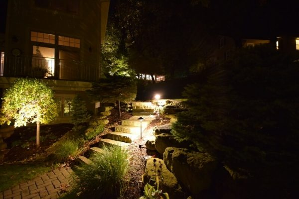 outdoor lighting, landscape lighting, step lighting