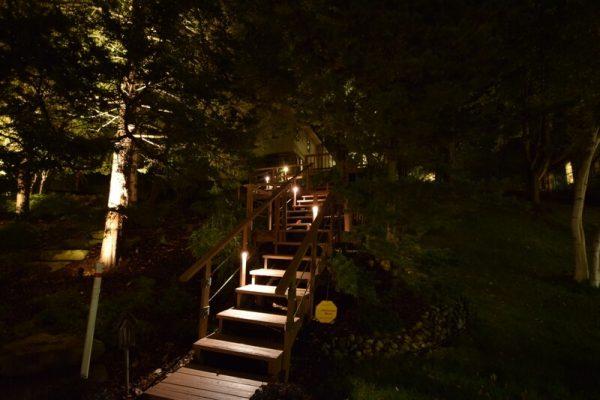 kenosha walkway light installation, libertyville stairway lights, lake bluff stair light installation
