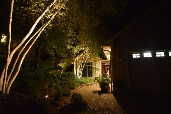 kenosha outdoor lighting, overhang lights, walkway lighting, accent lighting