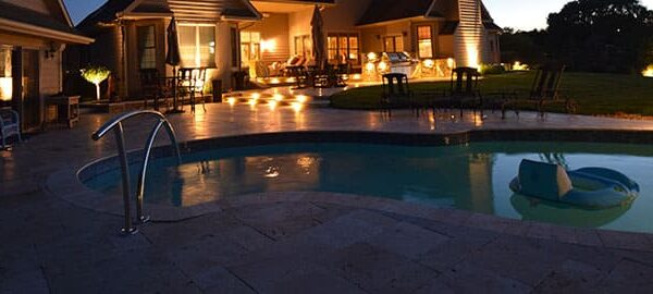 mikes landscape lighting, patio lighting, pool lighting,