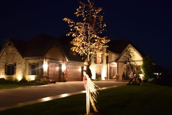 chicago landscape lighting, driveway lighting chicago