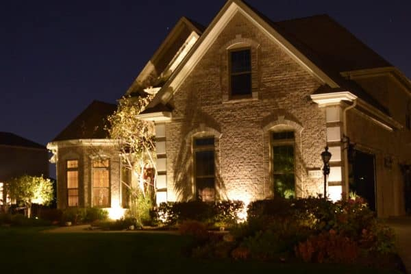 mikes landscape lighting kenosha, lighting behind bushes