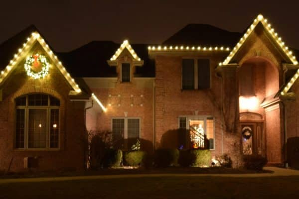 christmas gutter lights, mikes landscape lighting