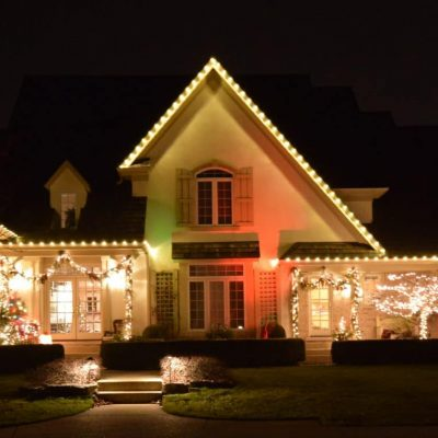 exterior lighting lake county, exterior holiday lighting, holiday lighting for outside