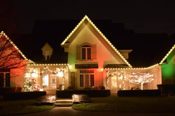 exterior christmas light installation, mikes landscape lighting
