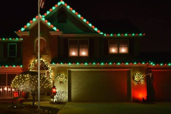 christmas lighting, outdoor christmas light installation