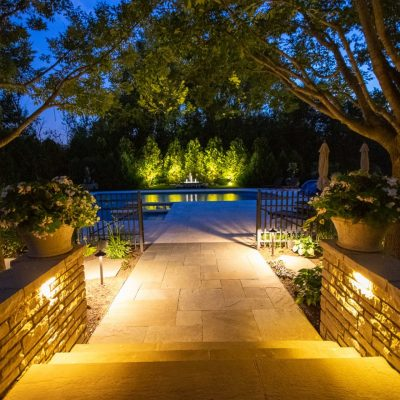 mikes landscape lighting, outdoor lighting, professional lighting installation