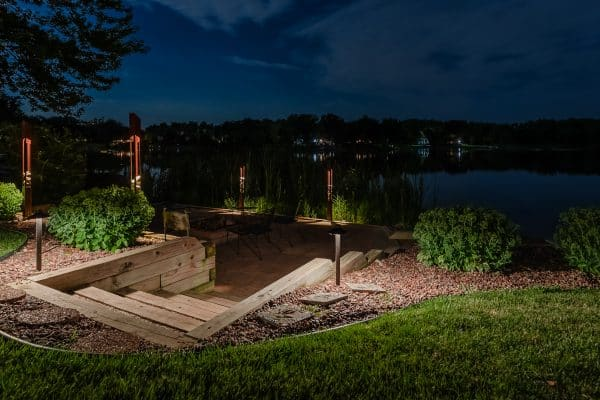 outdoor lighting installation, professional landscape lighting, mikes landscape lighting