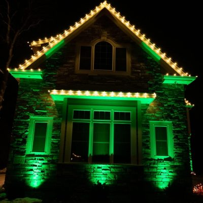 outdoor christmas lighting, mikes landscape lighting, holiday lighting