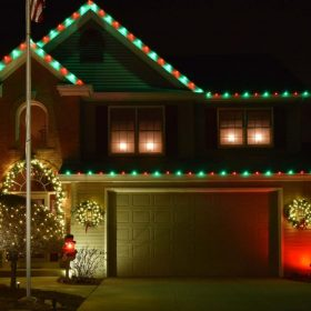 Christmas lighting in Chicago