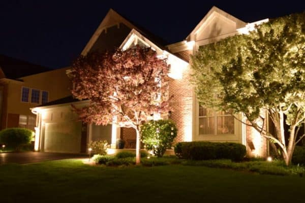Landscape lighting in Chicago