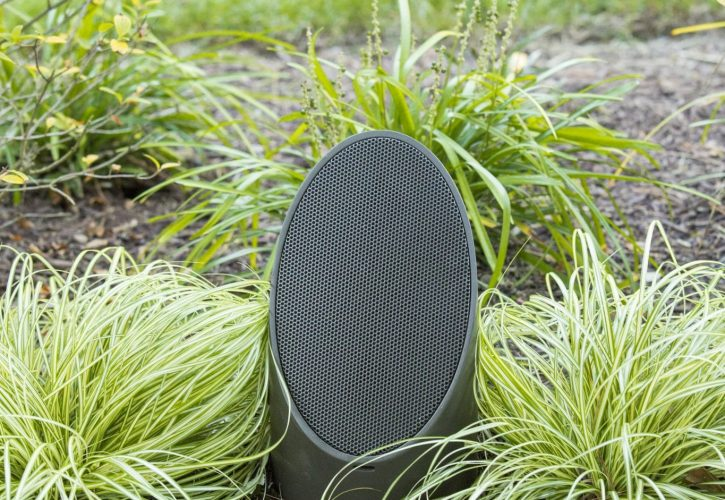 outdoor audio system, mikes landscape lighting, outdoor audio