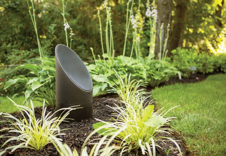 mikes landscape lighting, outdoor audio installation, outdoor sound system