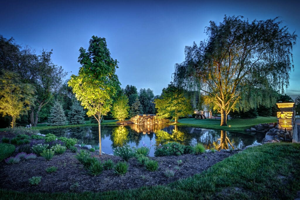 outdoor lighting in barrington, mike's landscape lighting, barrington outdoor lighting