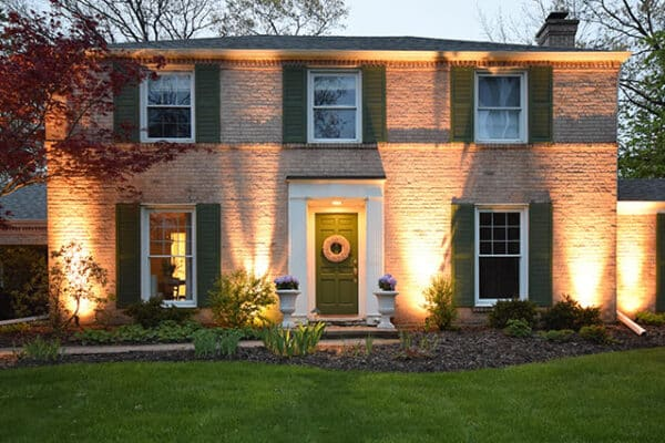 security lighting installation in northbrook il, mikes landscape lighitng, security lighting install in northbrook