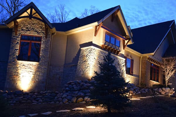 landscape lighting outdoor, long grove lighting services, mikes landscape long grove