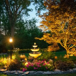 mikes landscape lighting illinois, outdoor lighting services, outside lights
