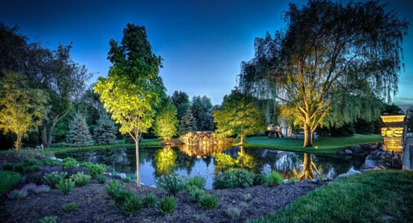 mike's landscape lighting, outdoor accent lighting, exterior accent lighting