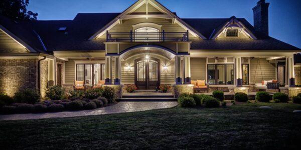 house lighting, mike's landscape lighting, house lighting services